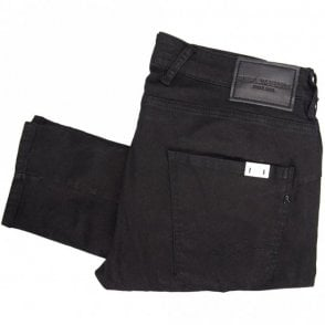 Zaldok Stretch Jet Black Slim Jeans
