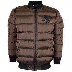Aero Bubble Zip Brown Bomber Jacket