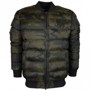Aero Bubble Zip Camo Bomber Jacket