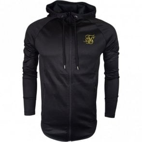 Athlete Through Polyester Black Zip Up Hoodie
