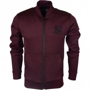 Poly Tricot Polyester Burgundy Zip Up Fleece