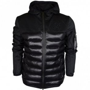 Range Bubble Neo Hooded Zip Black Jacket