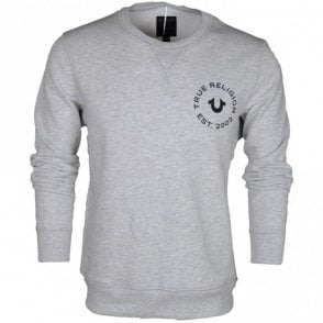 Long Sleeve Round Neck Grey Sweatshirt