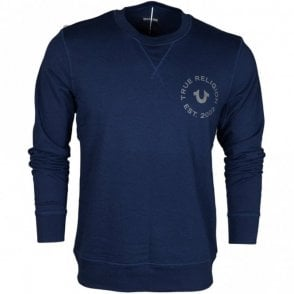 Long Sleeve Round Neck Navy Sweatshirt