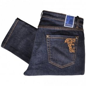 Collection V600280A Stretch Slim Fit Dark Blue Jeans