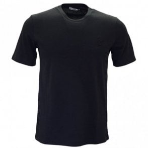 Collection V800683 Round Neck Basic Black T-Shirt