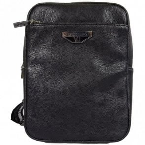 Jeans E1YRBB 3270088 Metal Logo Black Leather Side Bag