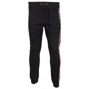 Jeans Felpa Cotton Slim Fit Black Bottoms