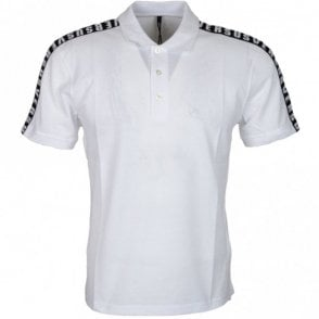 Versus BU90429 White 3-button Pique Polo
