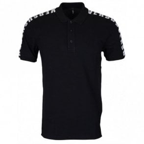 Versus BU90518 Black/Grey 3-button Pique Polo