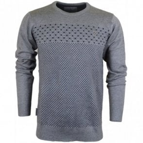 Dutson Long Sleeve Grey Knitwear
