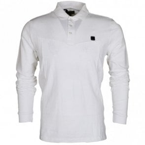 Kygo Pique Long Sleeve White Polo