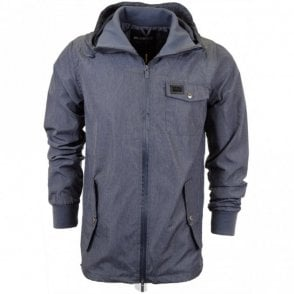 Sprint Chambray Blue Hooded Jacket