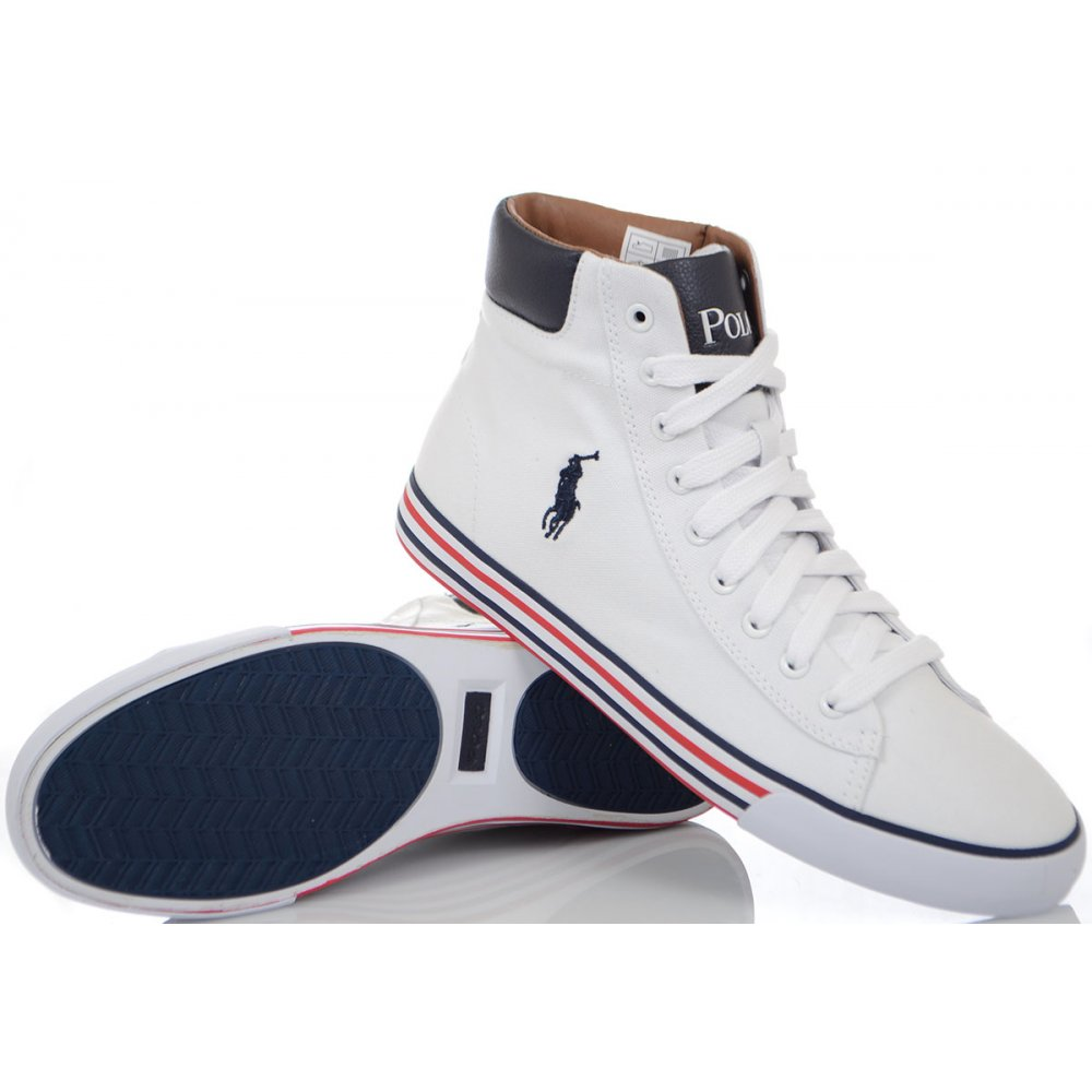 Harvey Shoes Canvas White Trainer Ralph High Ne Lauren Top Pure uPXiOlwTZk