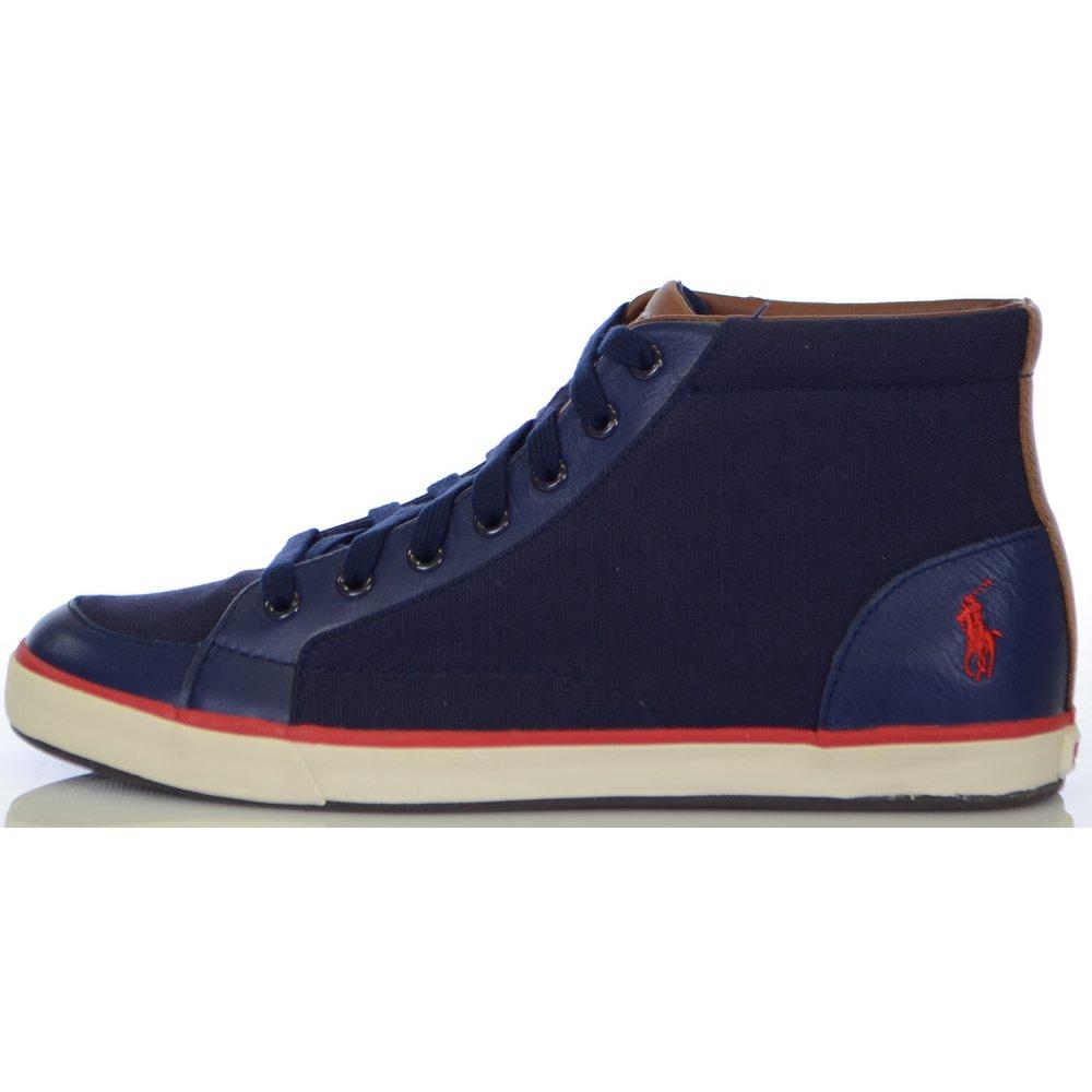 """Képtalálat a következőre: """"Ralph Lauren Shoes Norwood High Top Newport Navy Canvas"""""""