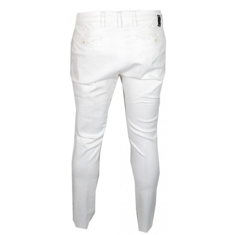 Replay Zeumar Hyperflex Stretch White Slim Fit Chino