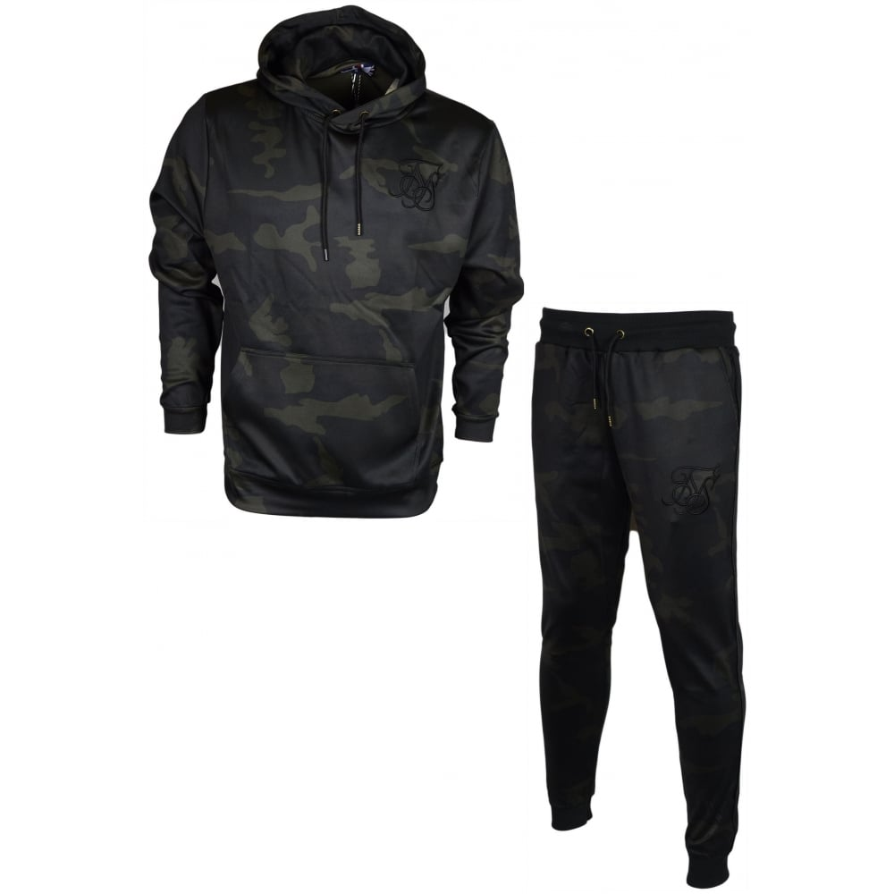 a22a551399 Sik Silk Poly Tricot Core Black Camo Tracksuit