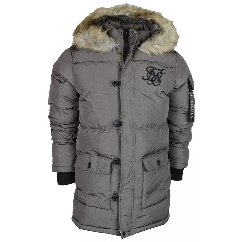 Siksilk SikSilk puffer parka jacket