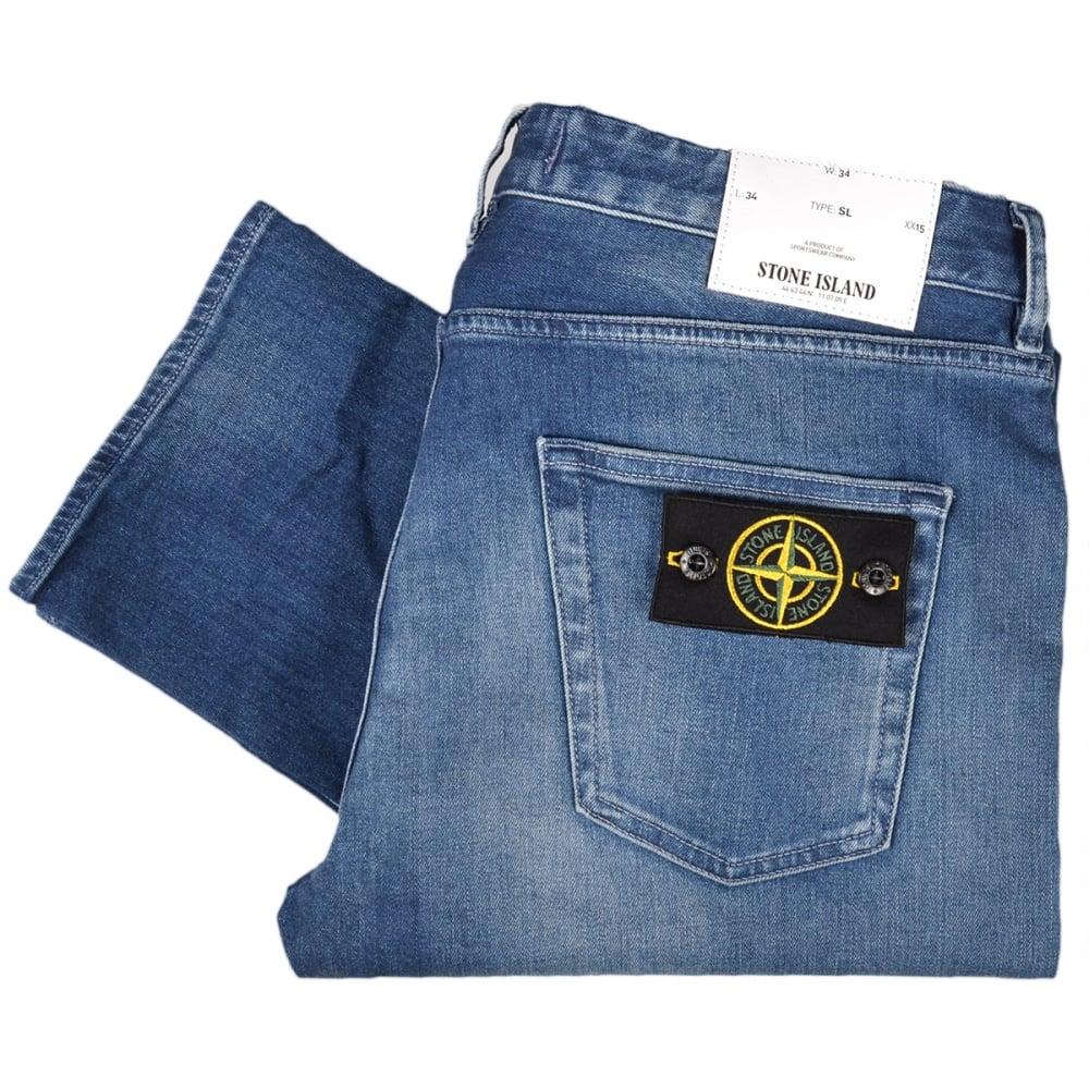 049dbcc50e Stone Island 6615J1BN4 Used Slim Fit Stone Wash Jeans