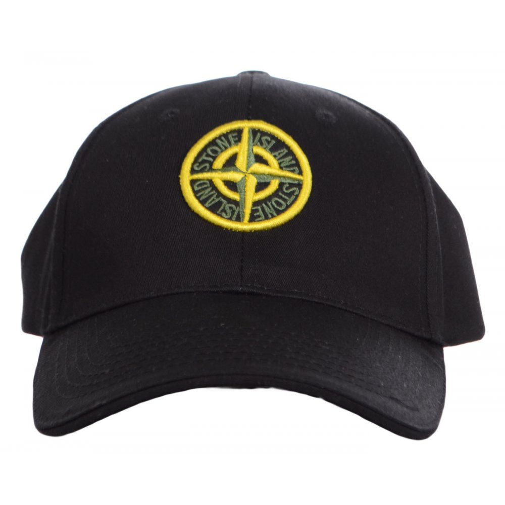 Stone Island Baseball Black Cap - Accessories from N22 Menswear UK 109bc43b14f