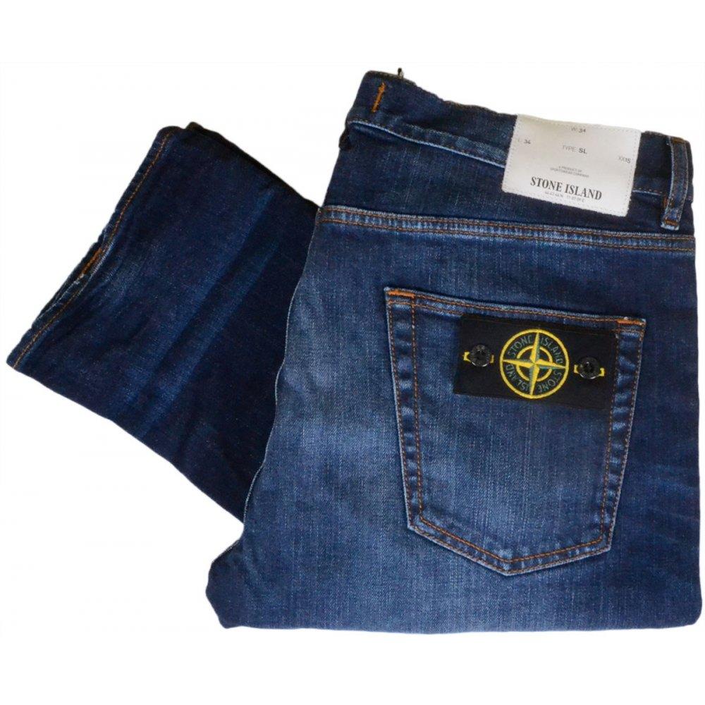 b6ccc6ba33 Stone Island Real Slim Dark Wash Jeans