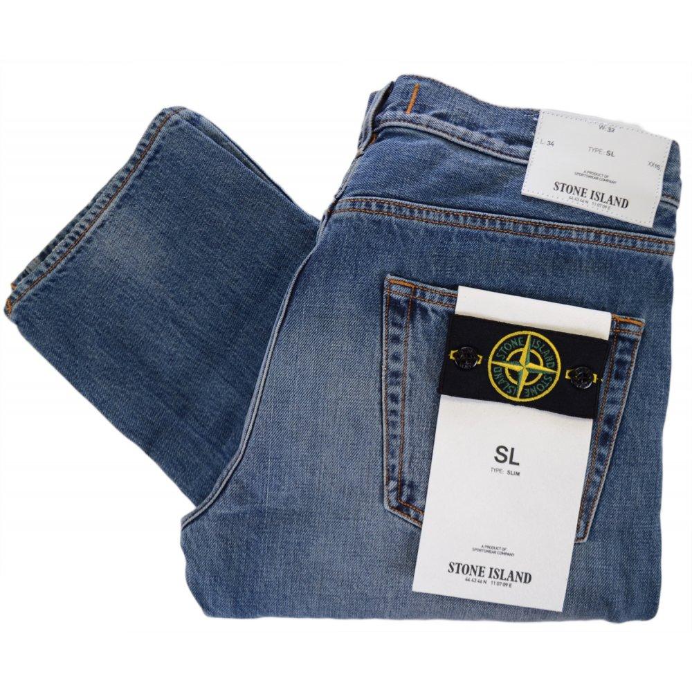 7b94c022cf Stone Island Slim Fit Vime Light Wash Jeans