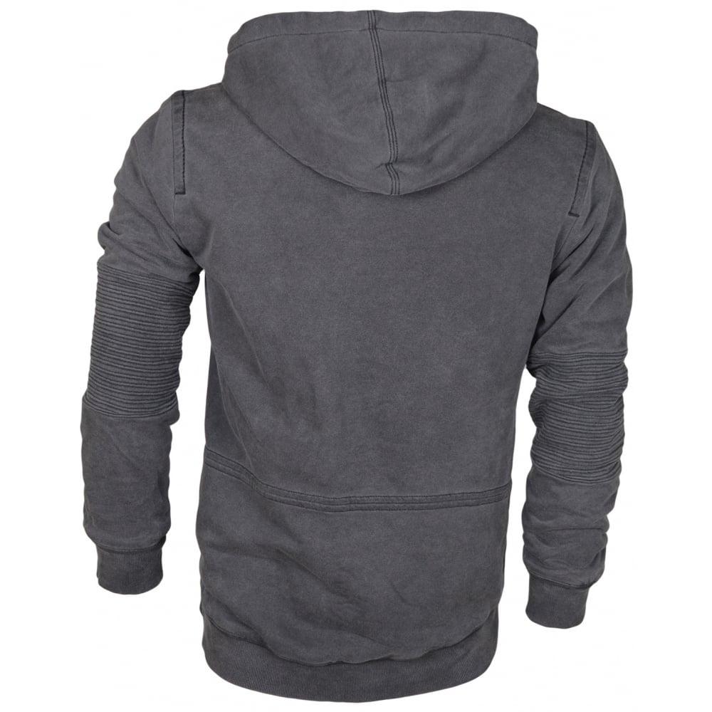91db9d52f True Religion Moto Zip Dark Grey Hoodie - Clothing from N22 Menswear UK