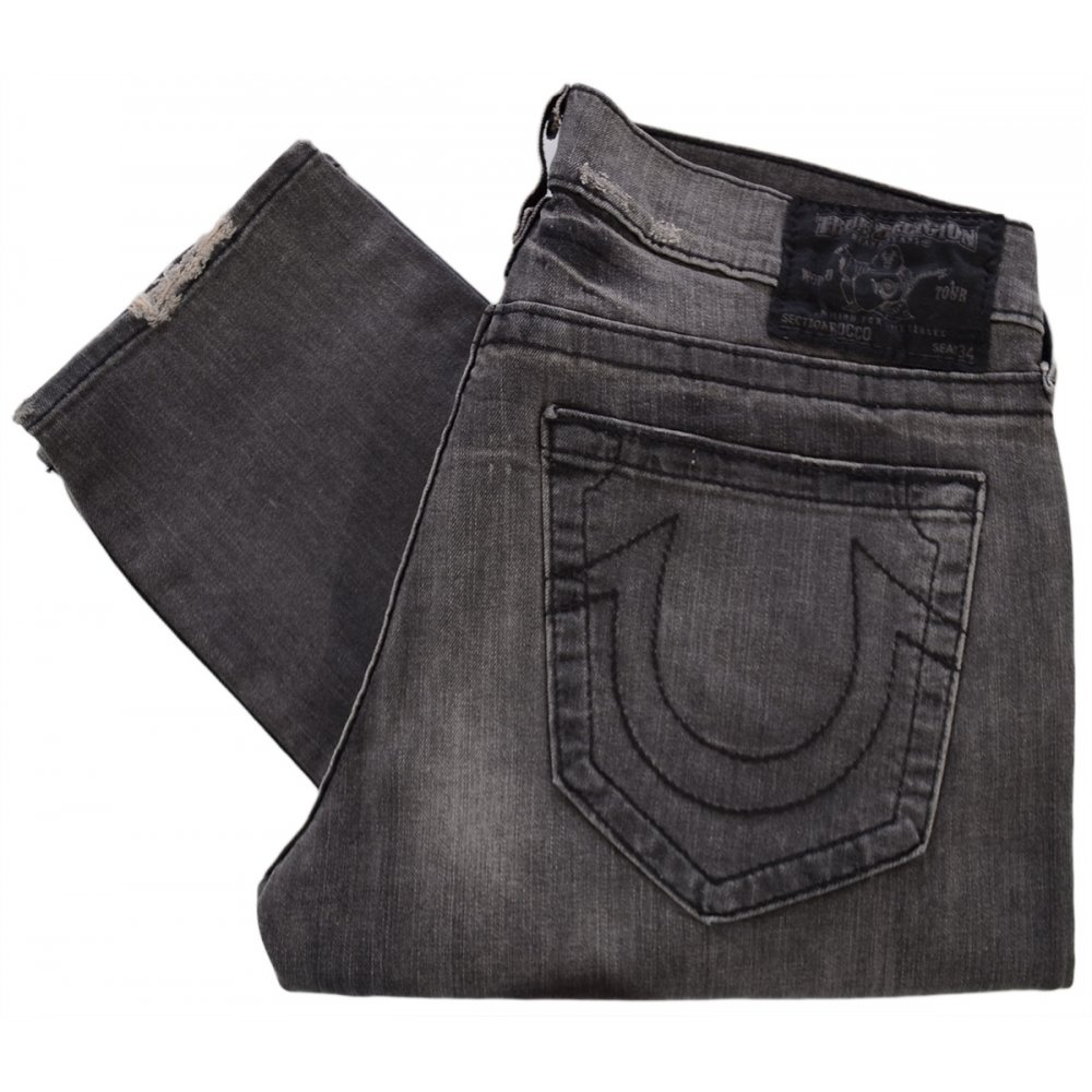 a1b9794b4 True Religion Rocco Skinny 2HB Rebel Med Black Jeans - Clothing from ...