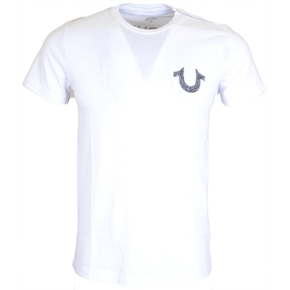 ef7d71f8 True Religion Shoestring Logo Horseshoe White T-Shirt - Clothing ...
