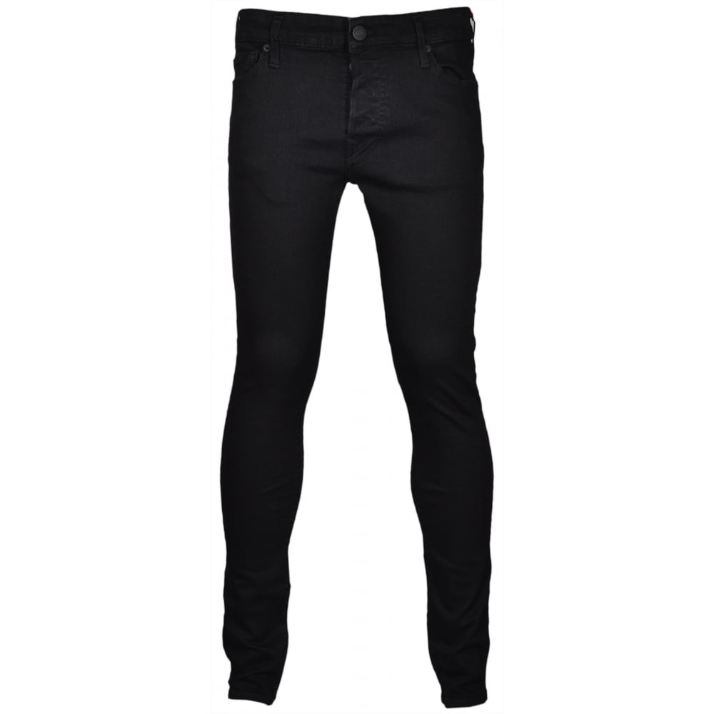 42baf9886 True Religion Tony Skinny Stretch Midnight Black Jeans - Clothing ...
