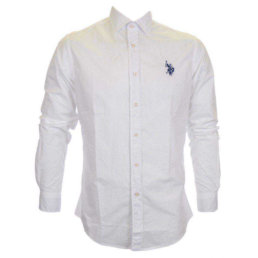 U S Polo Assn Howie Slim Fit White Shirt Clothing From N22