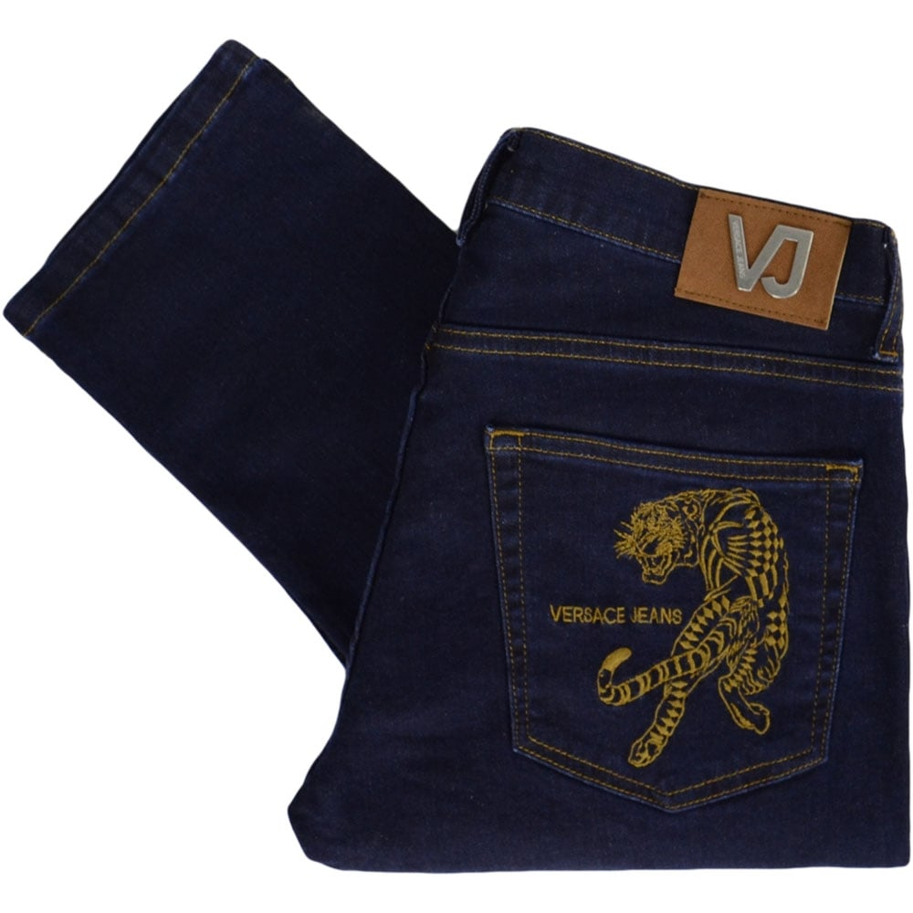 6d6f8642b5 Versace A2GRB0S2 Dark Wash Slim Fit Jeans - Clothing from N22 ...