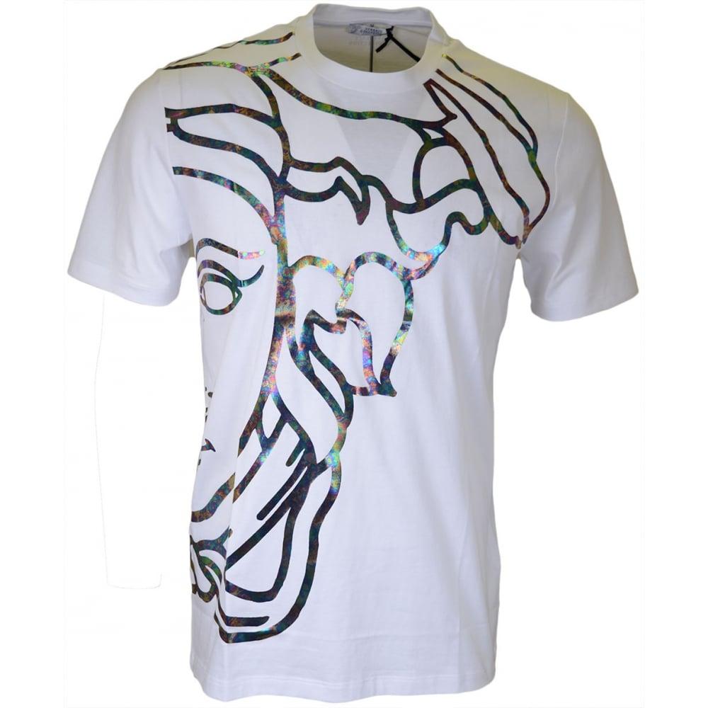 13625449 Versace Collection V800683 Round Neck Medusa White T-Shirt ...