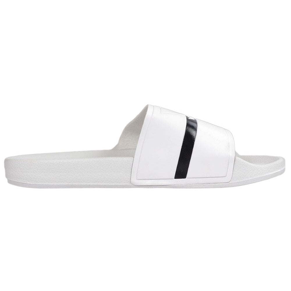 b51599765203 Versace Fondo Rubber White Slider - Footwear from N22 Menswear UK