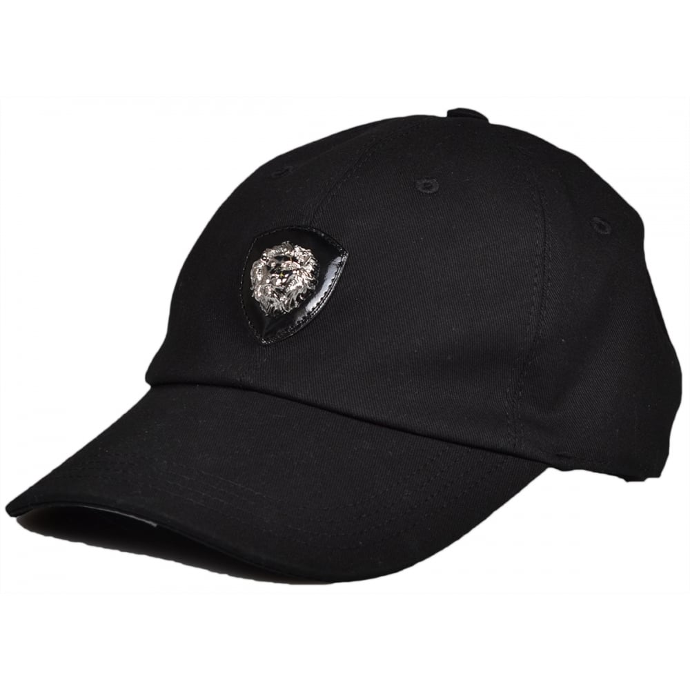 Versace Versus BCU0009 Metal Lion Black Baseball Cap - Accessories ... a5957c8e8fa0