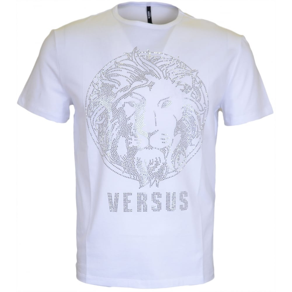 c7947d86 Versace Versus BU90104 Shine Studded White T-Shirt - Clothing from ...