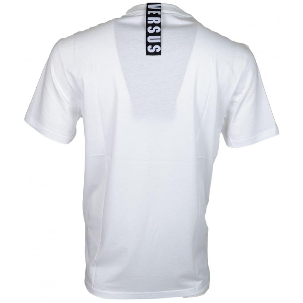 29457957 Versace Versus BU90432 Plain White Extra Long T-Shirt - Clothing ...