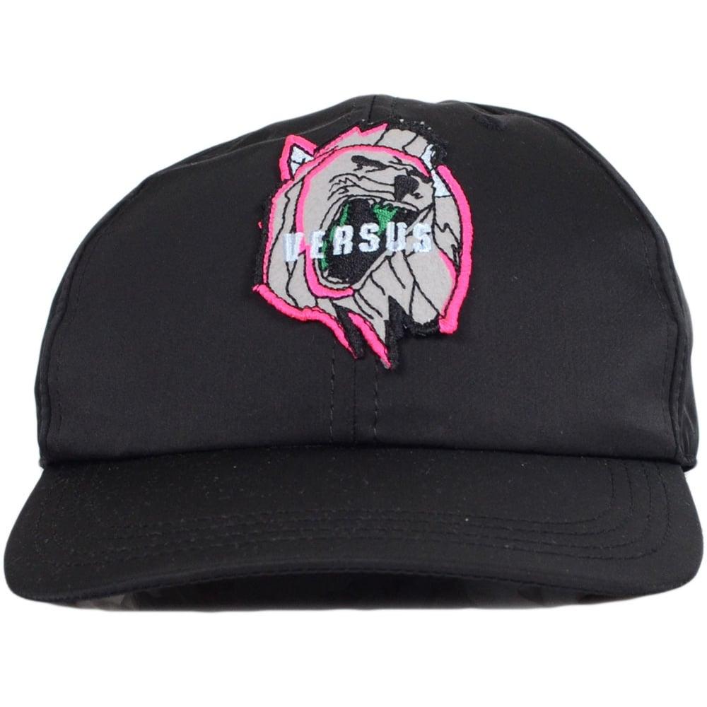 39bda10384f Versace Versus BUC0020 Graphic Lion Head Polyester Black Cap ...