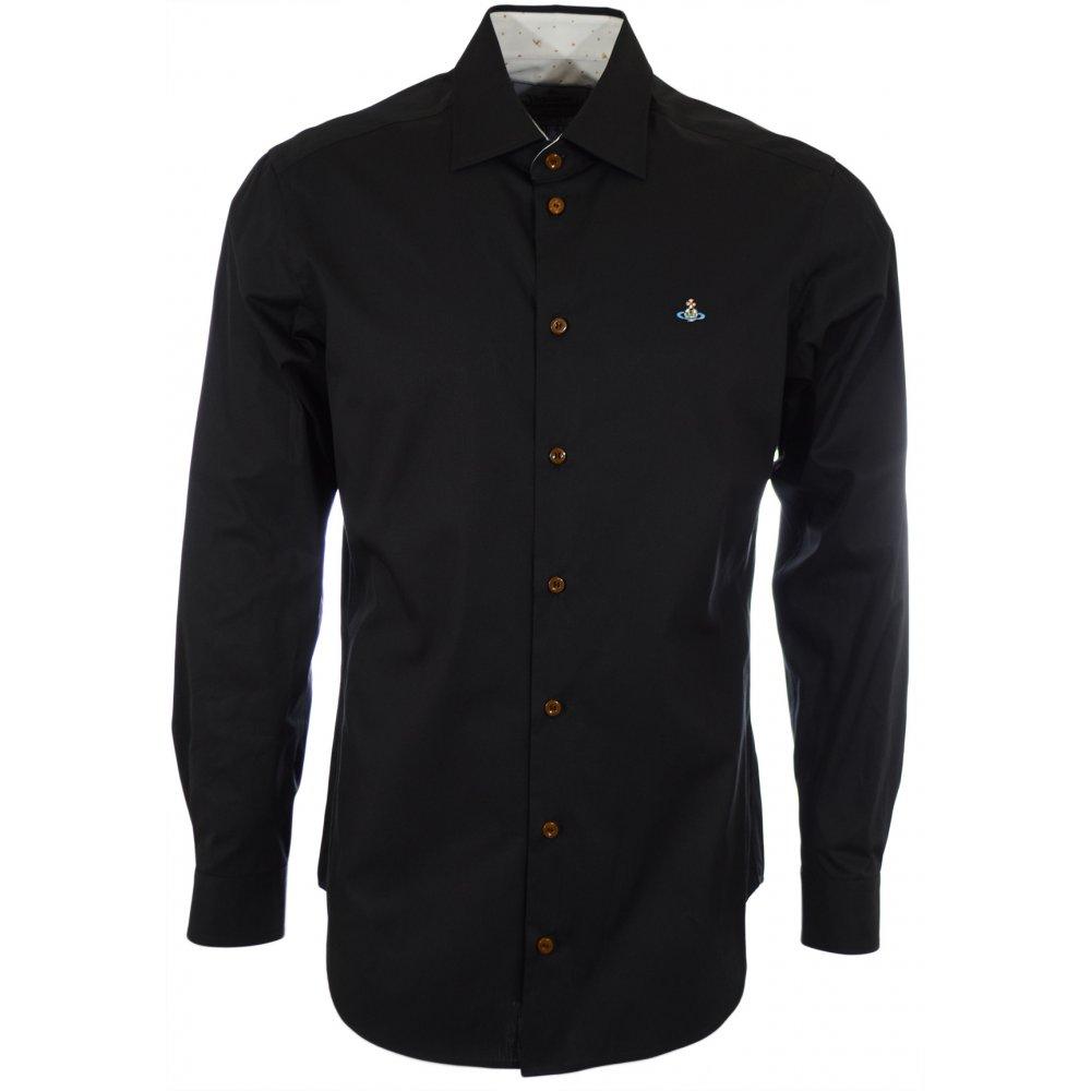 94cf5c51481a Vivienne Westwood Poplin Stretch Classic Black Shirt - Clothing from ...