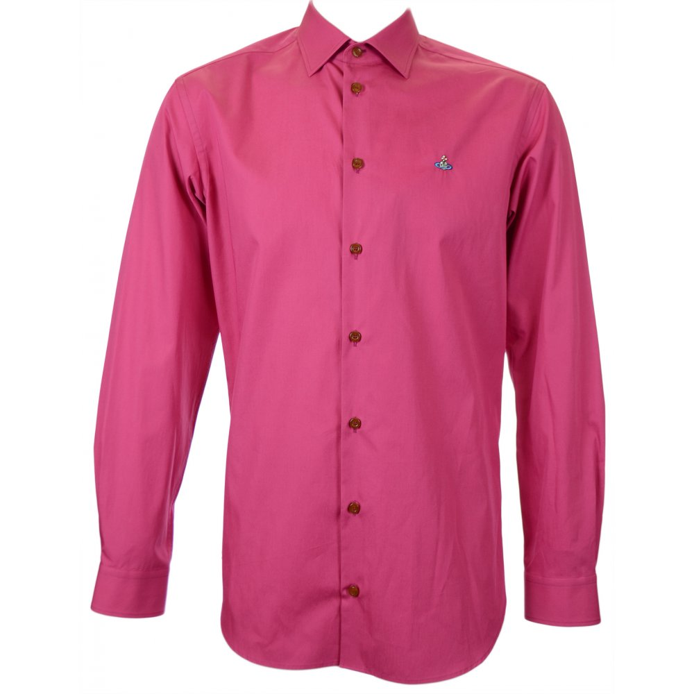 Ed Hardy Classic Pink Tall Woman Perfume: Vivienne Westwood Stretch Poplin Classic Pink Shirt