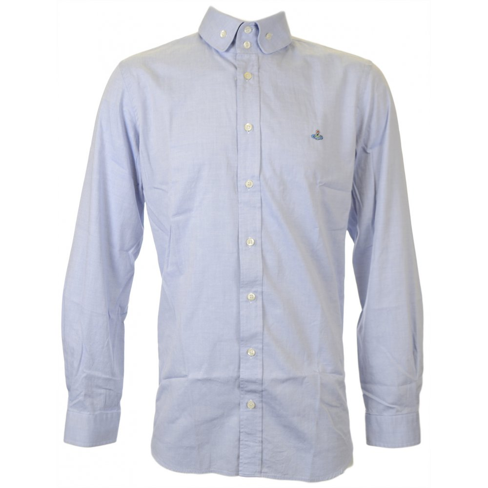 8377f275b80c1 Vivienne Westwood Two Button Oxford Sky Blue Shirt - Clothing from ...